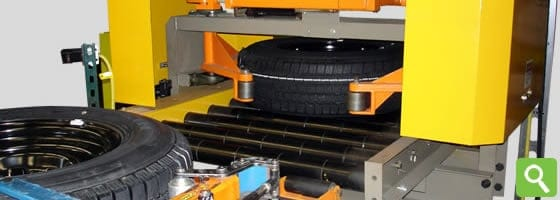 tire and wheel conveyor