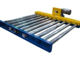 Motorized chain driven roller conveyor