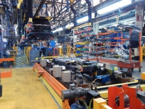 Custom lift system at Ford Motor Assembly plant