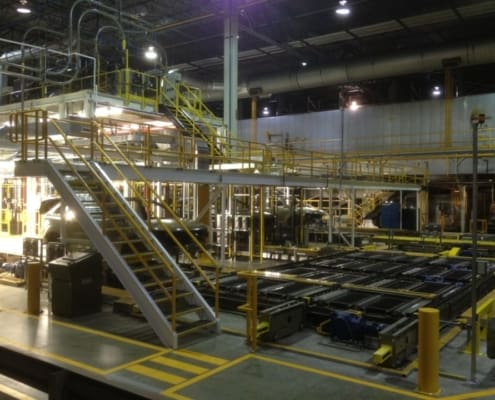 Ultimation platforms and mezzanines fabrication