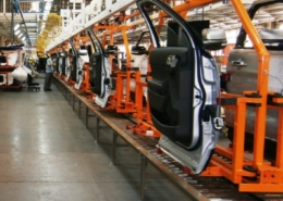 Power and Free Conveyor Conveyors at a Ford Motor Company assembly plant