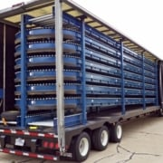 tire and wheel conveyor trailer
