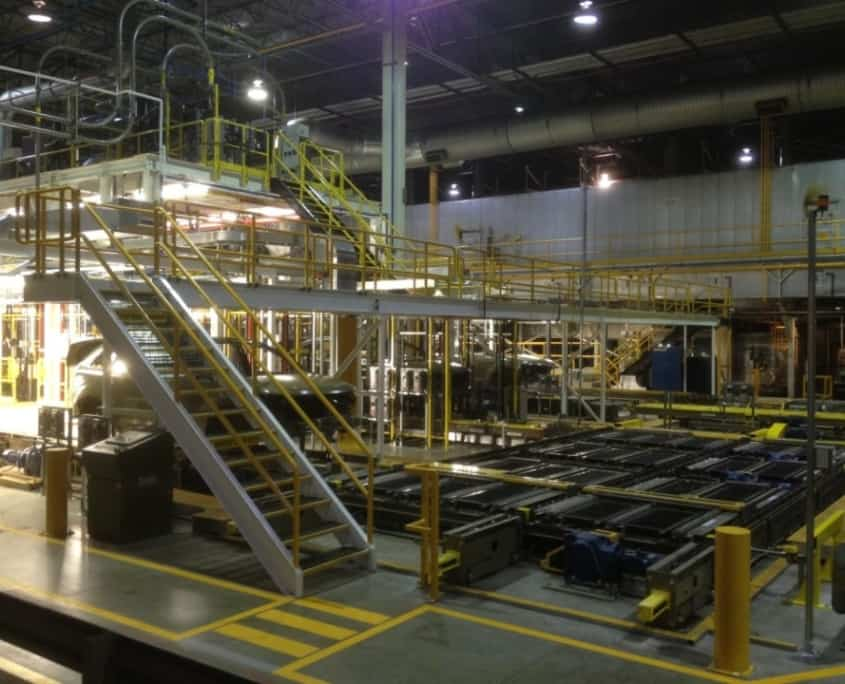 overhead platform fabrication