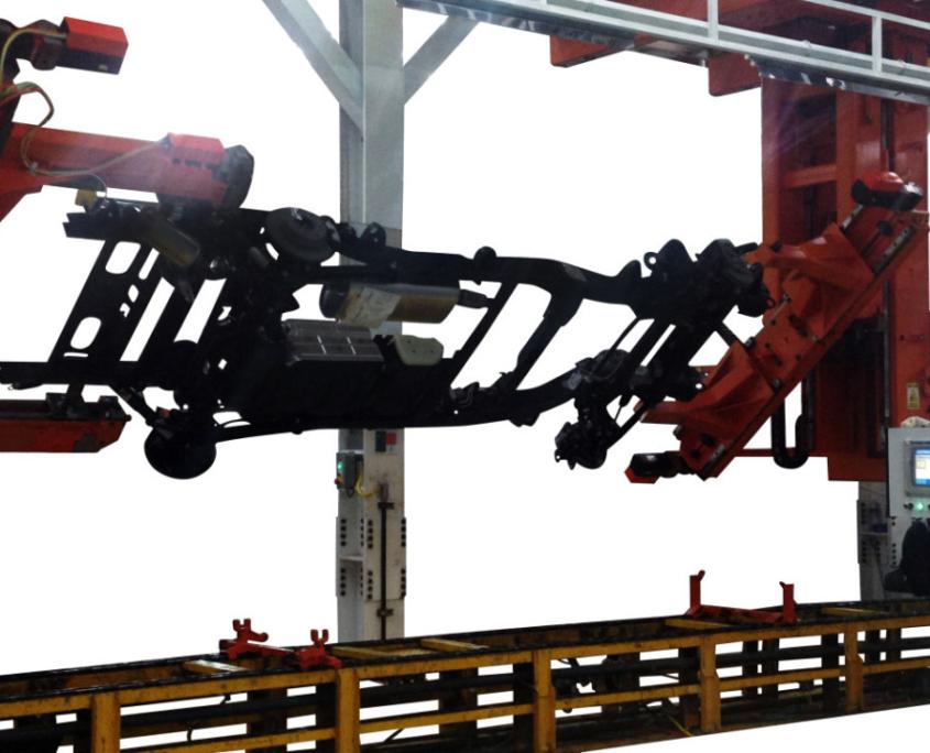Chassis turn over machine