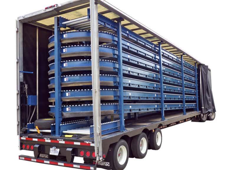 tire and wheel conveyor trailer
