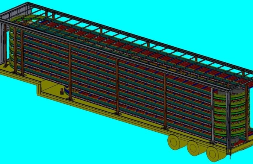 tire wheel conveyor trailer
