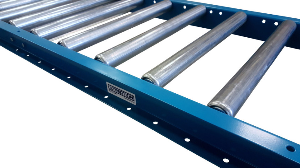 "30/""W on 6/"" centers Aluminum Frame Roller Conveyor"