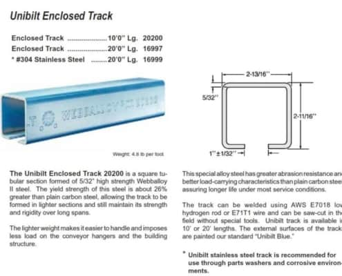 20200 Unibilt Track 16997 16999