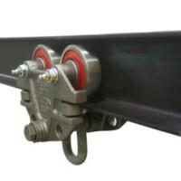 I-beam track and trolley set