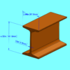 4 inch I-Beam S4 dimensions