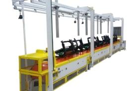 Slat conveyor assembly line