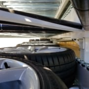 tire and wheel delivery trailer