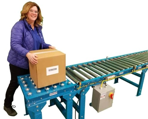 convert roller conveyor to powered rollers