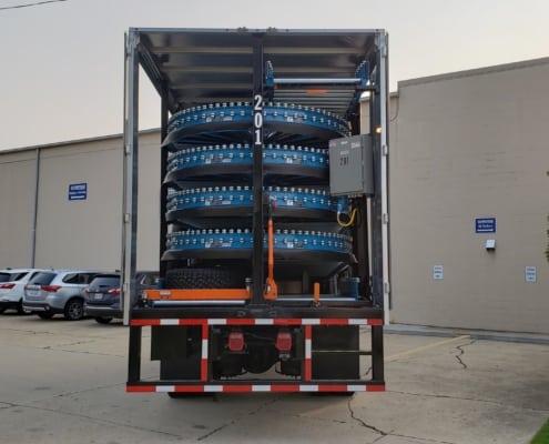 Automatic truck unloading