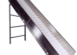 Food Processing Cleated Incline Belt Conveyor