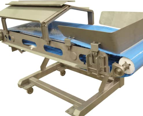 Troughed Food Handling Belt Conveyor with Top Cover